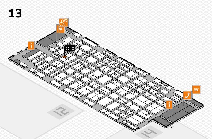 MEDICA 2016 hall map (Hall 13): stand C60