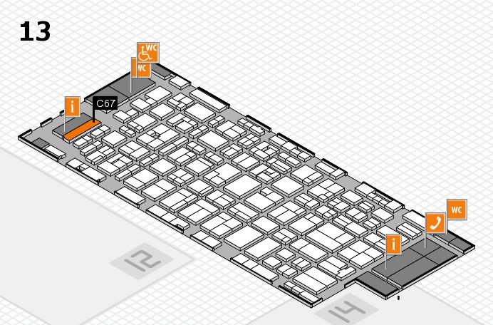 MEDICA 2016 hall map (Hall 13): stand C67