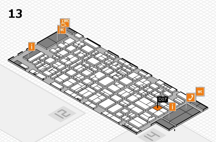 MEDICA 2016 hall map (Hall 13): stand D07