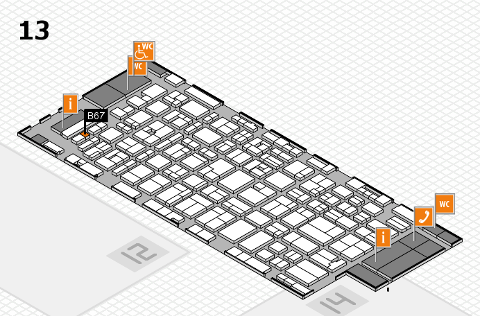 MEDICA 2016 hall map (Hall 13): stand B67