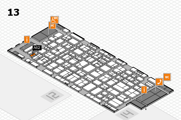 MEDICA 2016 hall map (Hall 13): stand A62