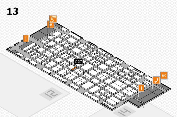 MEDICA 2016 hall map (Hall 13): stand C37