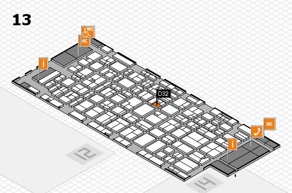 MEDICA 2016 Hallenplan (Halle 13): Stand D32