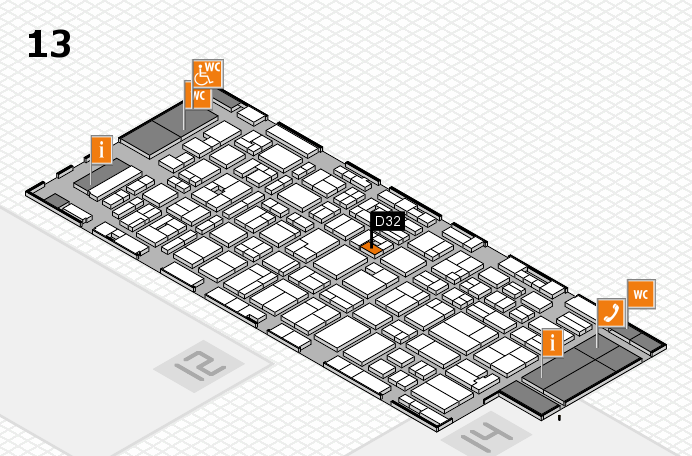 MEDICA 2016 hall map (Hall 13): stand D32