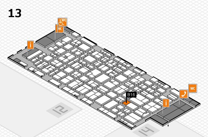 MEDICA 2016 hall map (Hall 13): stand B16