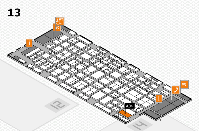 MEDICA 2016 hall map (Hall 13): stand A04