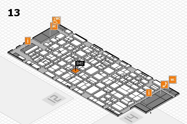 MEDICA 2016 hall map (Hall 13): stand B40