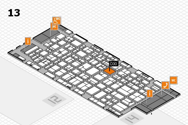 MEDICA 2016 hall map (Hall 13): stand D30