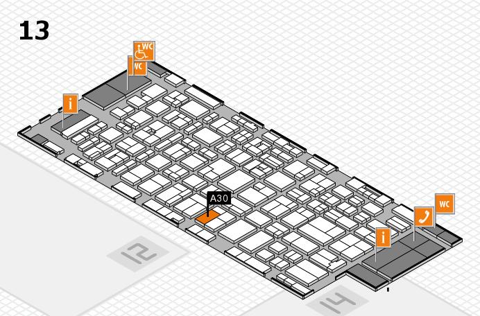 MEDICA 2016 hall map (Hall 13): stand A30