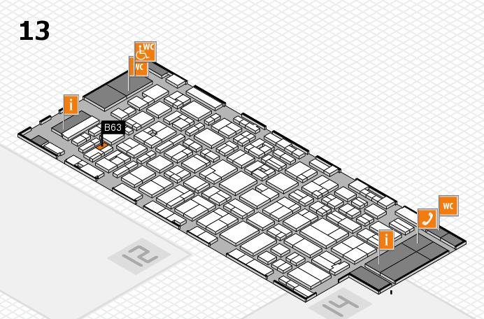MEDICA 2016 hall map (Hall 13): stand B63