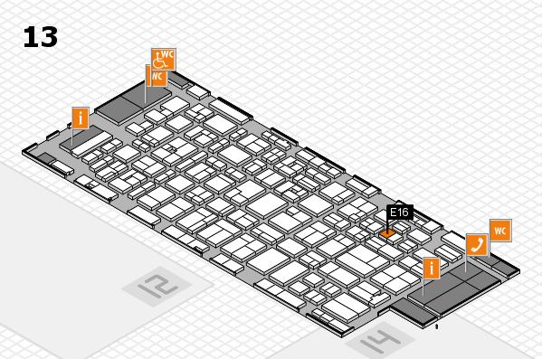 MEDICA 2016 hall map (Hall 13): stand E16