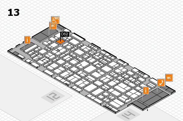 MEDICA 2016 hall map (Hall 13): stand D62