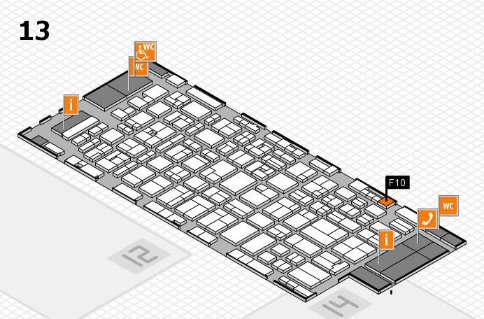 MEDICA 2016 hall map (Hall 13): stand F10