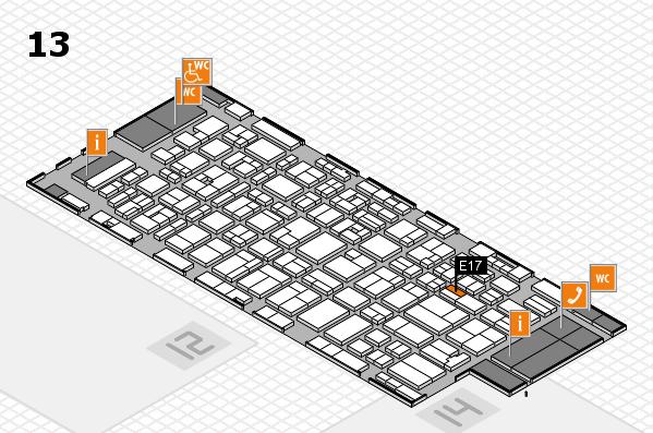 MEDICA 2016 hall map (Hall 13): stand E17