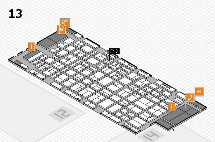 MEDICA 2016 hall map (Hall 13): stand F43