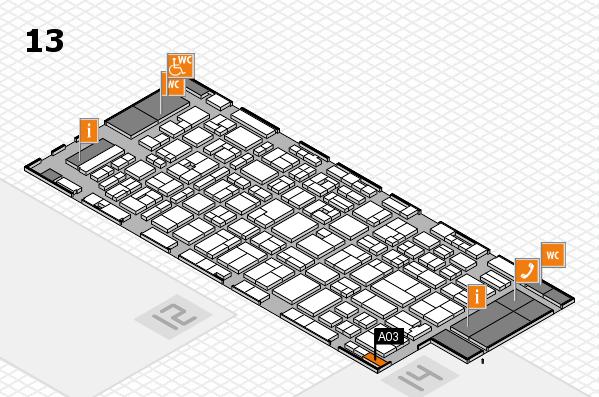 MEDICA 2016 hall map (Hall 13): stand A03
