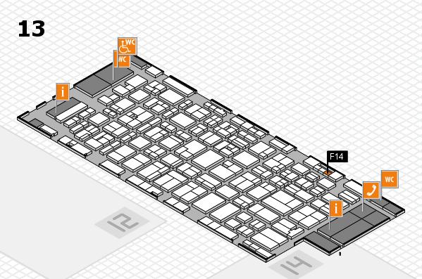 MEDICA 2016 hall map (Hall 13): stand F14