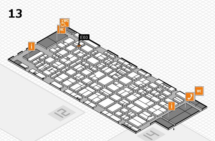 MEDICA 2016 hall map (Hall 13): stand E60