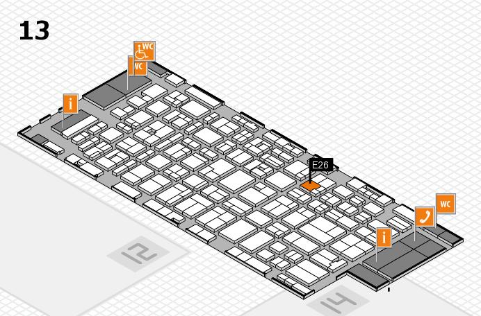MEDICA 2016 hall map (Hall 13): stand E26