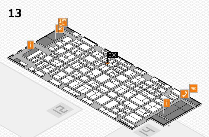MEDICA 2016 hall map (Hall 13): stand E38