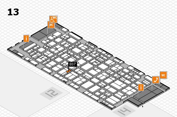 MEDICA 2016 hall map (Hall 13): stand B37