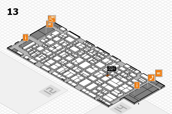 MEDICA 2016 hall map (Hall 13): stand D21