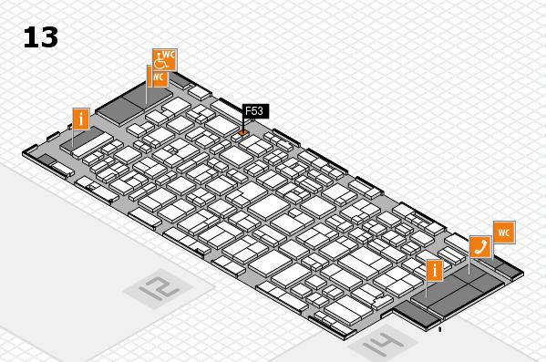 MEDICA 2016 hall map (Hall 13): stand F53