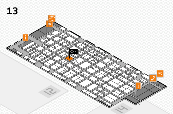 MEDICA 2016 hall map (Hall 13): stand C44