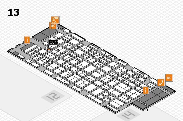 MEDICA 2016 hall map (Hall 13): stand C61