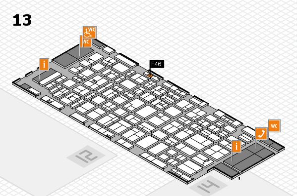 MEDICA 2016 hall map (Hall 13): stand F46