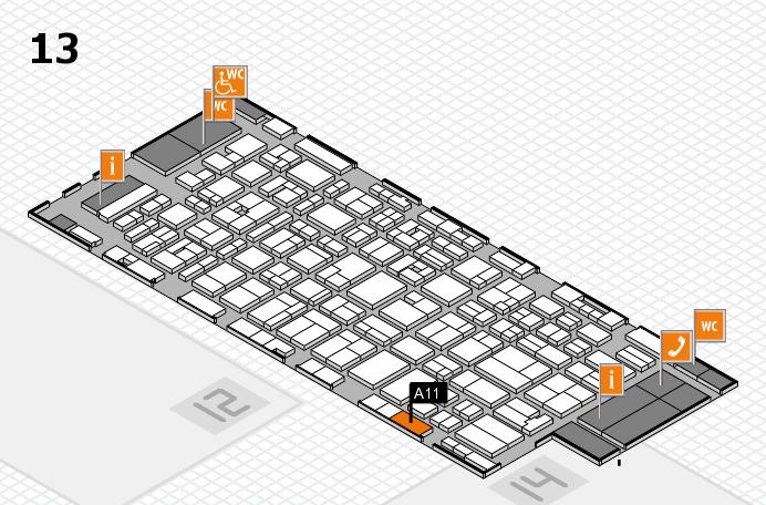 MEDICA 2016 hall map (Hall 13): stand A11