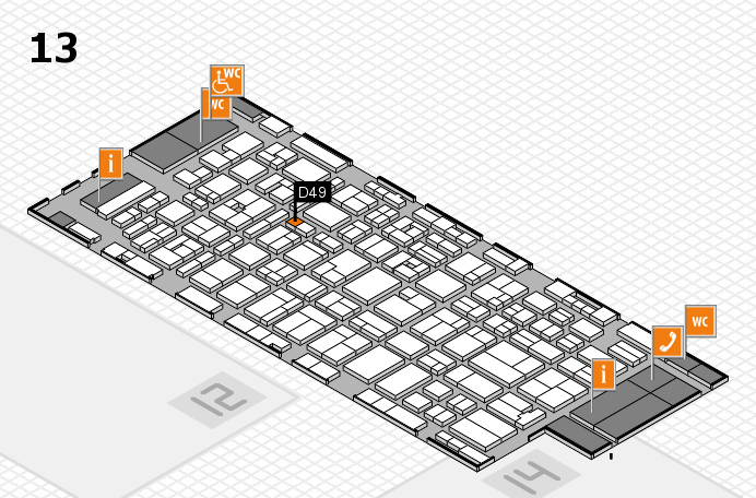 MEDICA 2016 hall map (Hall 13): stand D49
