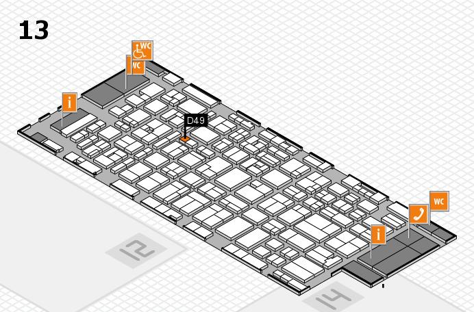 MEDICA 2016 hall map (Hall 13): stand D49