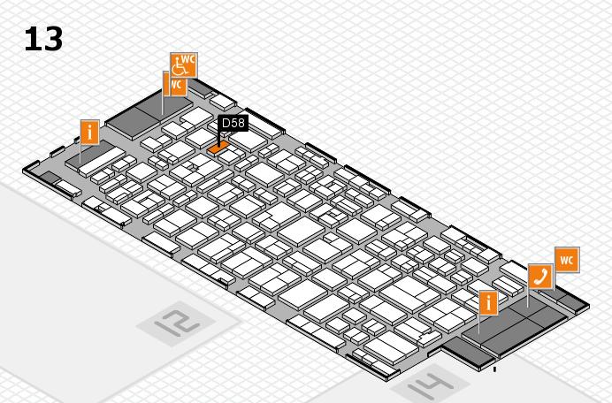 MEDICA 2016 hall map (Hall 13): stand D58