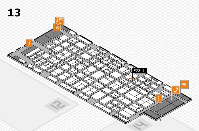 MEDICA 2016 hall map (Hall 13): stand F23-1