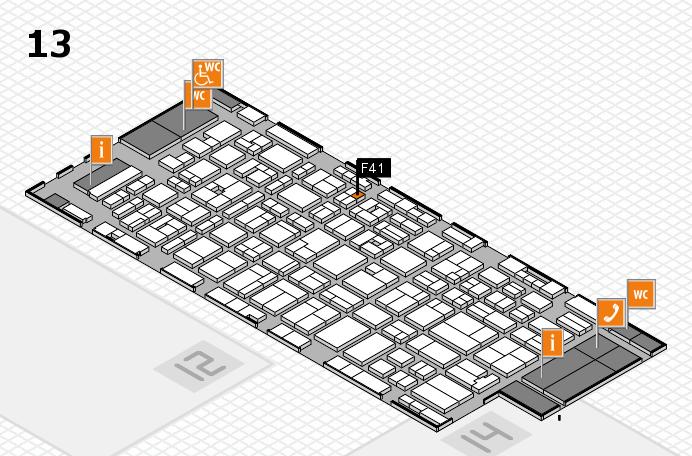 MEDICA 2016 hall map (Hall 13): stand F41