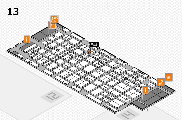 MEDICA 2016 hall map (Hall 13): stand E44