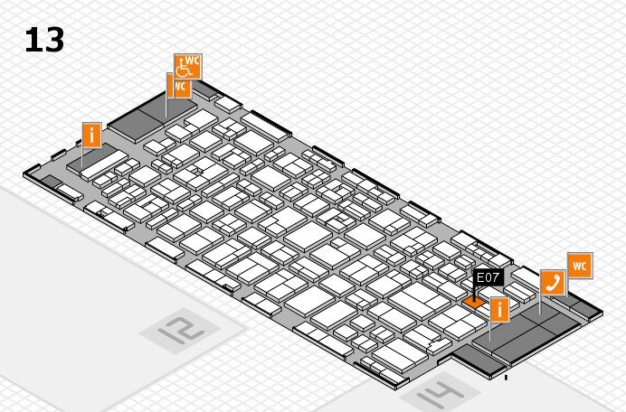 MEDICA 2016 hall map (Hall 13): stand E07