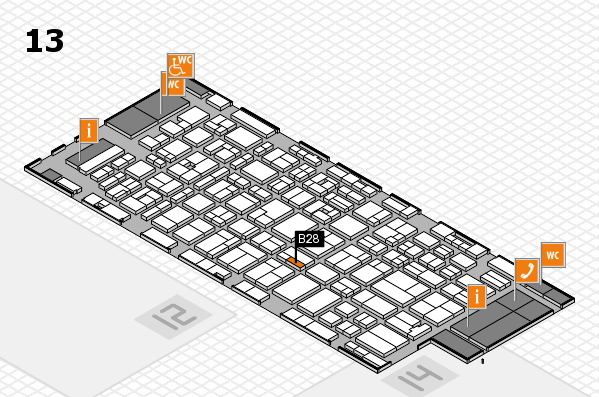 MEDICA 2016 hall map (Hall 13): stand B28