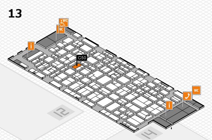 MEDICA 2016 hall map (Hall 13): stand C50