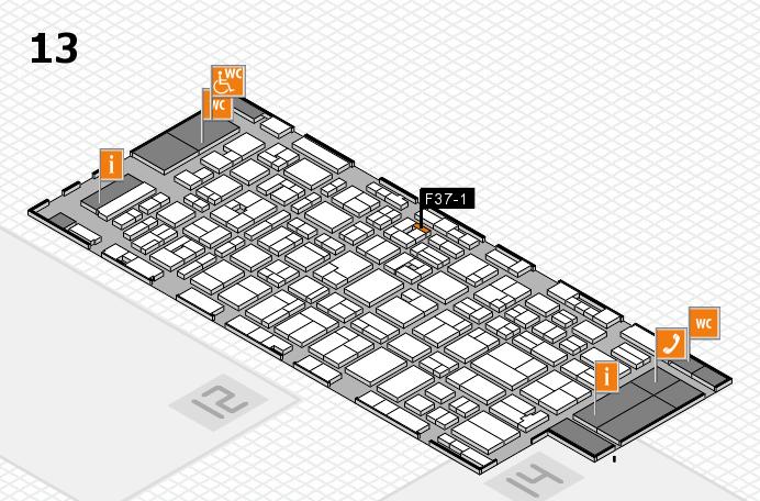 MEDICA 2016 hall map (Hall 13): stand F37-1