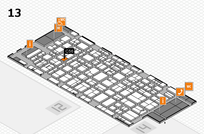 MEDICA 2016 hall map (Hall 13): stand C56