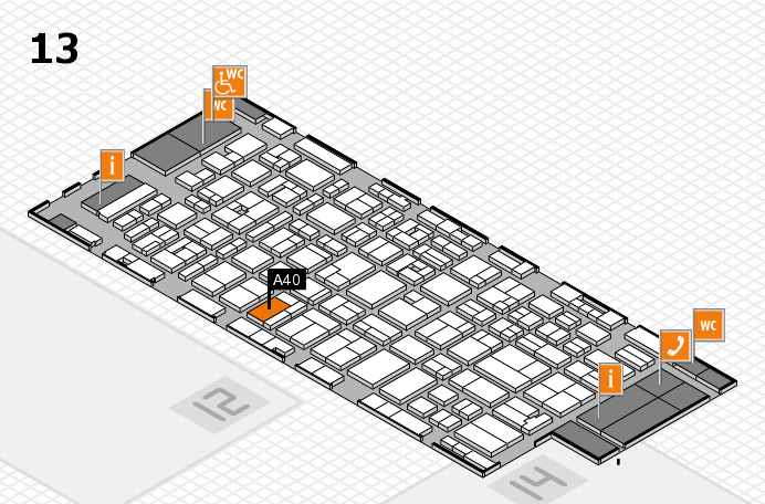 MEDICA 2016 hall map (Hall 13): stand A40