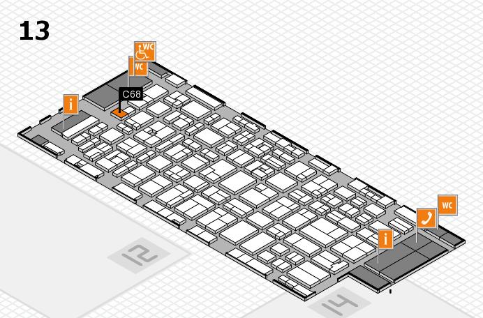MEDICA 2016 hall map (Hall 13): stand C68