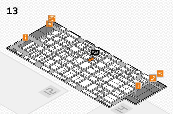 MEDICA 2016 hall map (Hall 13): stand E35
