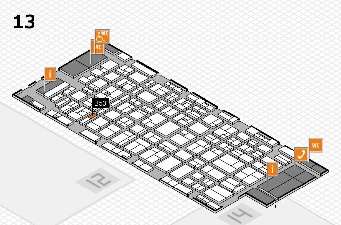MEDICA 2016 hall map (Hall 13): stand B53