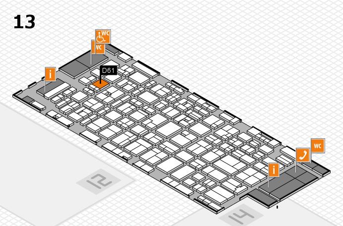 MEDICA 2016 hall map (Hall 13): stand D61