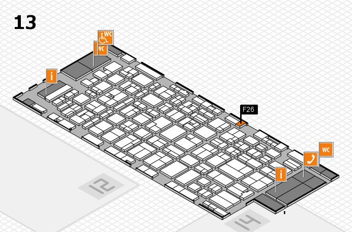 MEDICA 2016 hall map (Hall 13): stand F26