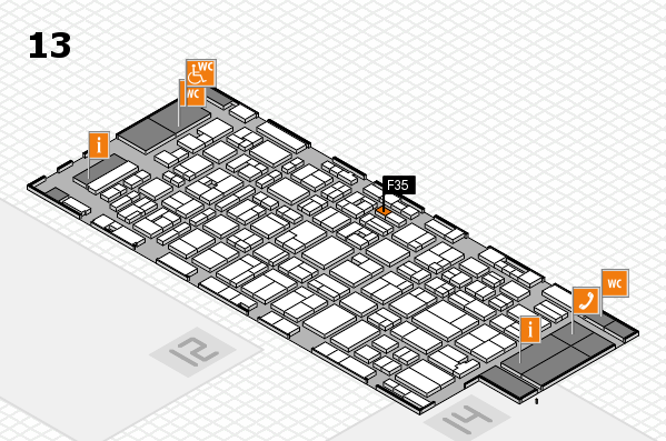 MEDICA 2016 Hallenplan (Halle 13): Stand F35