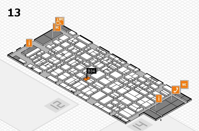 MEDICA 2016 hall map (Hall 13): stand B34